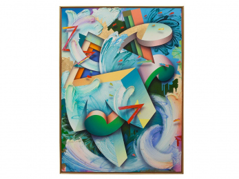 "The Traveler, 68"" x 50"", acrylic/canvas, 1990"